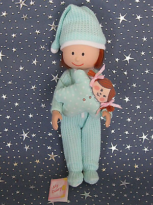 """Madeline 8"""" doll Eden/LearningCurve MINT GREEN FOOTED PAJAMAS Clothes Set"""