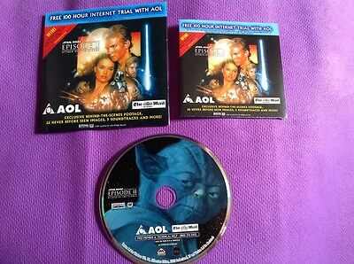 STAR WARS Attack of the Clones Mail On Sunday Promo CD Rom Behind Scenes Footage