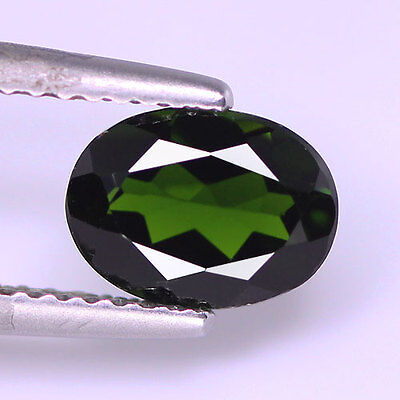 1.42Cts Natural Chrome Green Diopside Oval Shape Loose Gemstone