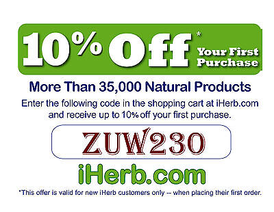 iHerb.com Promo Discount Coupon Code ZUW230 10% OFF 1st Order - iHerbs