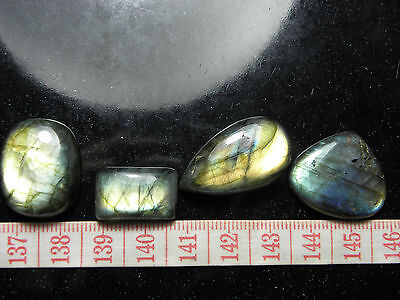 Natural 4 Flashy Spectrolite Labradorite Polished Cabs! Wire Wrapping! 101,35Cts