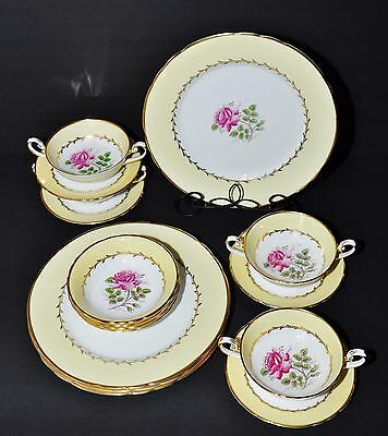 Tuscan Dovedale Dove Dale 4 X Dinner Place Settings Plates Bowls Cups Saucers