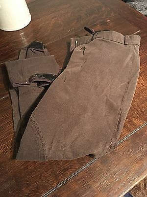 Derby House Self Seat Brown Breeches Size30