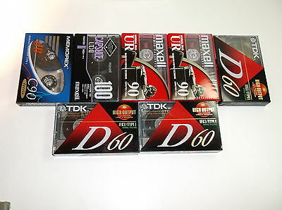 New Audio Cassettes TDK , Memorex and Maxell Lot of 5