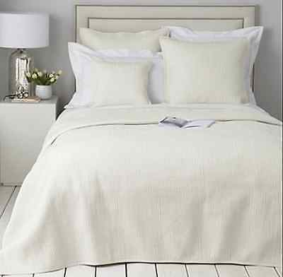 The White Company Ivory 100% Silk Quilt / Bedspread / Throw Size King New £300
