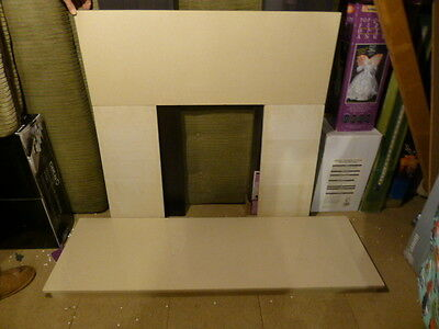 Fireplace-Back-Panel-and-Hearth-Set-in-cream-Marble