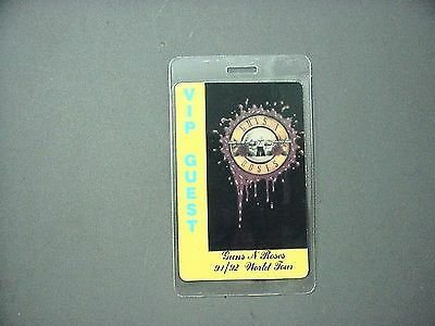Guns n' Roses backstage pass laminated 1991-92 World Tour VIP GUEST !
