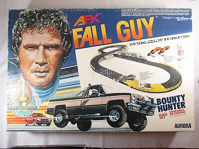 RARE Aurora AFX Fall Guy Bounty Hunter, H0 Scale Race Set with extra's