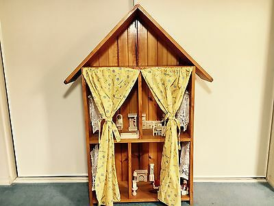Classic Wooden Doll House (4-Room + Loft) and FREE Furniture