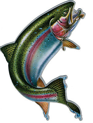 RAINBOW TROUT CAR TRUCK MAGNET Rivers Edge Art NEW Fishing Wildlife Decal Angler