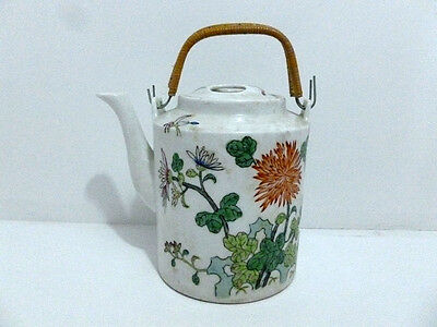 Teapot Antique Export Porcelain Chinese Famille Rose Teapot , Marked.5560