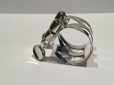 Selmer Alto Saxophone Silver Plated Metal Ligature