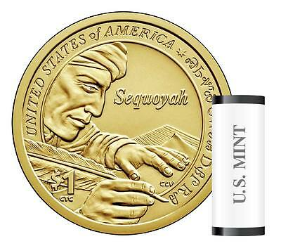 2017 D Sacagawea Dollar Roll Native American Roll Mint Roll HEADS TAILS In Hand