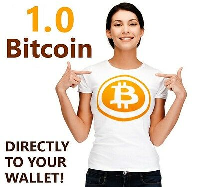 1.0 One Full Bitcoin 1 BTC Blockchain Investment Mining Contract Crypto Currency