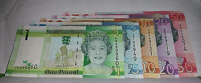 Set + £50 - £20 - £10 - £5 - £1  States Of Jersey Bank Notes Uncirculated
