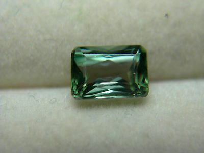 very rare Blue Green Kornerupine Pleochroic gem Tanzania natural Gemstone emerld