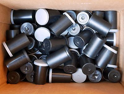 Lot of (50) Empty Film Canisters - Black with Gray or Black Caps