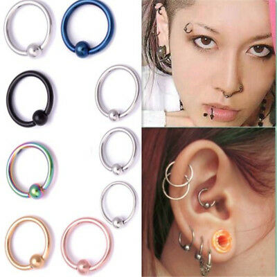 Fashion Surgical Steel Nose Ring Hoop  Ear Small Cartilage Tragus Piercing