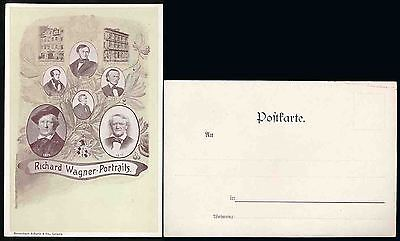 Germany Early Ppc Richard Wagner Portraits Very Fine + Clean
