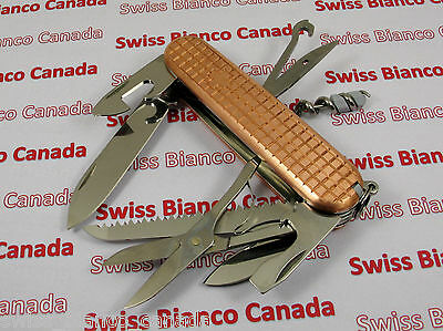 Victorinox Huntsman Plus Swiss Army Knife with Swiss Bianco Copper Scales
