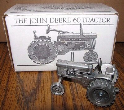 *John Deere 60 Pewter Farm Tractor Spec Cast Toy JDM-028 Historic Collection jd