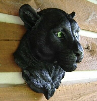 Black Panther Cat Wall Mount Head Jungle Safari Zoo