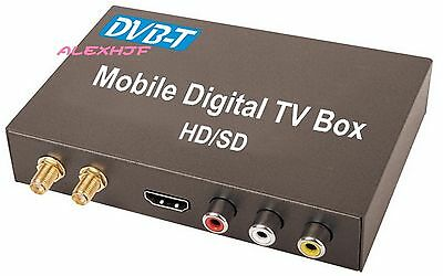 Car Digital DVB-T TV Receiver (HD/SD), HDMI Car TV Tuner, Support MPEG-1 -2 -4