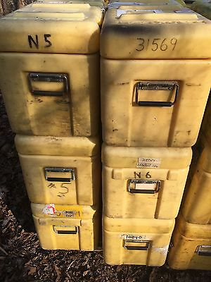 """Two(2)Pelican Hardigg Case Southco Chest Dry Box 30x13x16""""OD(Sun Faded,See Pic)"""