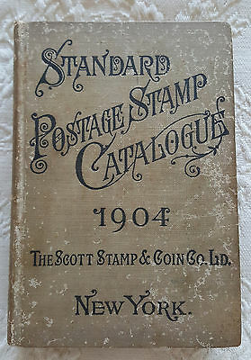 1904 Scott's Standard Postage Stamp Catalogue - Harcover Book