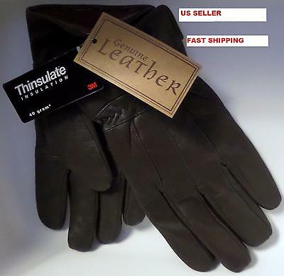 Thinsulate Men's Genuine Leather Gloves