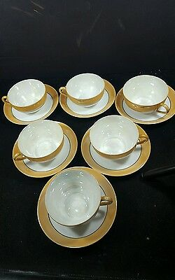 Set of 6 Noritake China tea cups & saucers Excellent Condition irredescent Japan