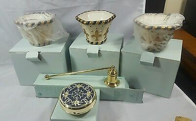 Lot of 5 PartyLite Chateau votive CANDLE HOLDERS Snuffer & Travel Tea Light*New*
