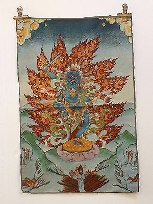 Tibet Collectable Silk Hand Painted Fairy Thangka    gd5615