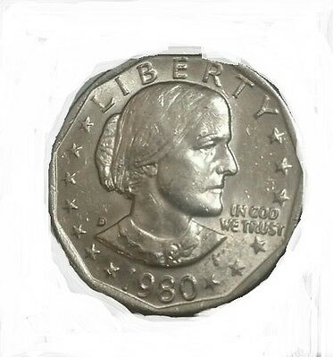 1980 Susan B Anthony Silver One Dollar United States LIBERTY ( 1 COIN )