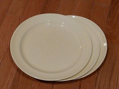 VINTAGE ANTIQUE T. S. & T. LU-RAY 6 LARGE PLATES 3 SEAFOAM GREEN 3 YELLOW 1950s