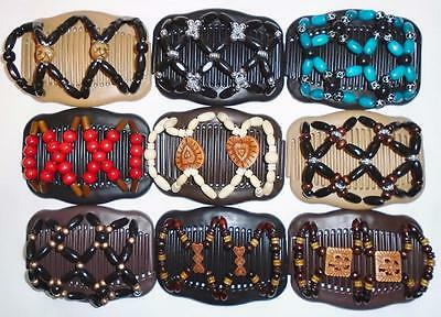 African Style Butterfly Clips, Double Magic Hair Combs, Style w Quality, S73