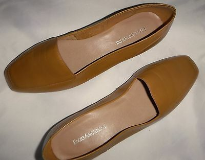 New Enzo Angiolini LIBERTY Womens Leather Beige Slip-on Flat Loafer Size 8 Med