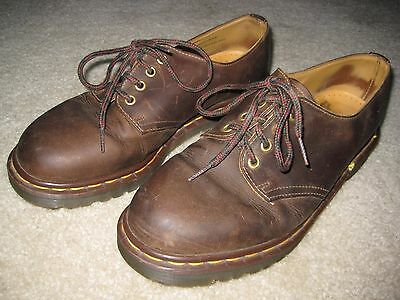 Women's Dr.Martens Air Wair Brown Leather Oxford Lace Up Shoes Size 11