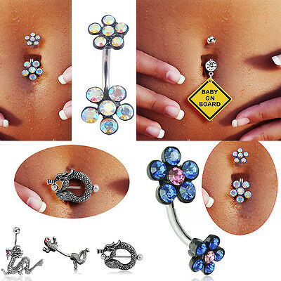 ring w gem dangle piercing jewelry marijuana leaf com clear amazon cz navel pot green rings button dp belly