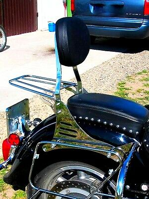 Sissy Bar Passenger Backrest + Luggage Rack Yamaha Xvz 1300 Xvz1300 Royalstar