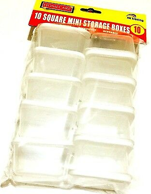 10 X Plastic Mini Storage Boxes Baby Weaning Feeding Freezer Food Pots Container