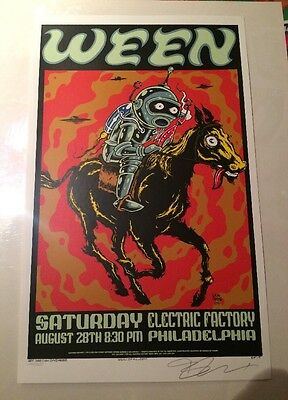 Rare Awesome Ween Concert Poster From 1999 Sparkling Condition