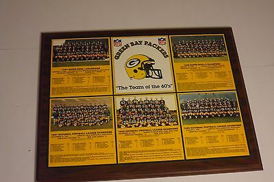 Healy 15X19 Framed Wall Plaque Gb Packers Dynasty Teams