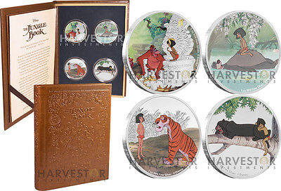 Disney - The Jungle Book Four Coin Collection - 4 X 1 Oz. Silver Coins - Ogp Coa