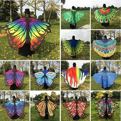 Butterfly Wings Shawl Cape Fairy Ladies Nymph Pixie Festival Costume Accessory