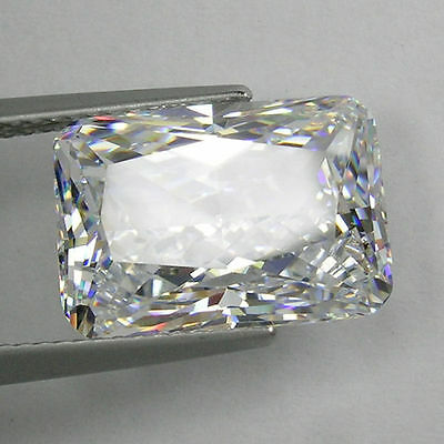 IF Radiant Octagon Colorles White (D-F) Russian Lab Made Diamond AAAAA SUN