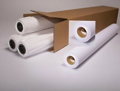 "4 Rolls Of Plotter Paper 24"" x 150"" HP Designjet 20 lbs CAD 2"" Core 92 White"
