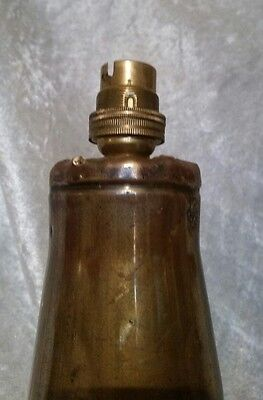 WW2 Large Brass British Army Trench Art Table lamp 1943 High Quality Piece