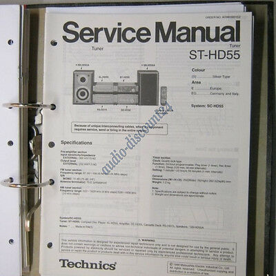 TECHNICS ST-HD55 Tuner Service Manual (intern:D4)