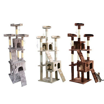 Cat Kitten Scratching Post Tree Scratcher Bed Activity Centre Climbing Toy Large